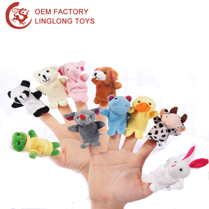 10Pcs 1 Set Cartoon Animal Finger Puppet 12 Zodiac Animal Mini Plush Finger Puppets Toys Plush Mini Finger Toy