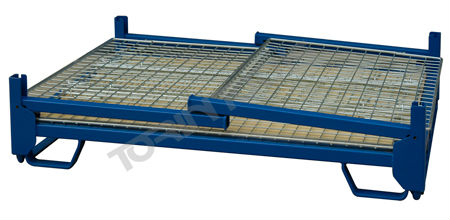 Industry Galvanized Stackable Wire Mesh Metal Foldable Cage Pallets
