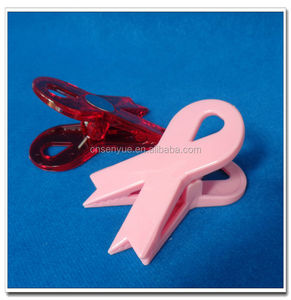 Silk ribbon shape plastic clip with magnet