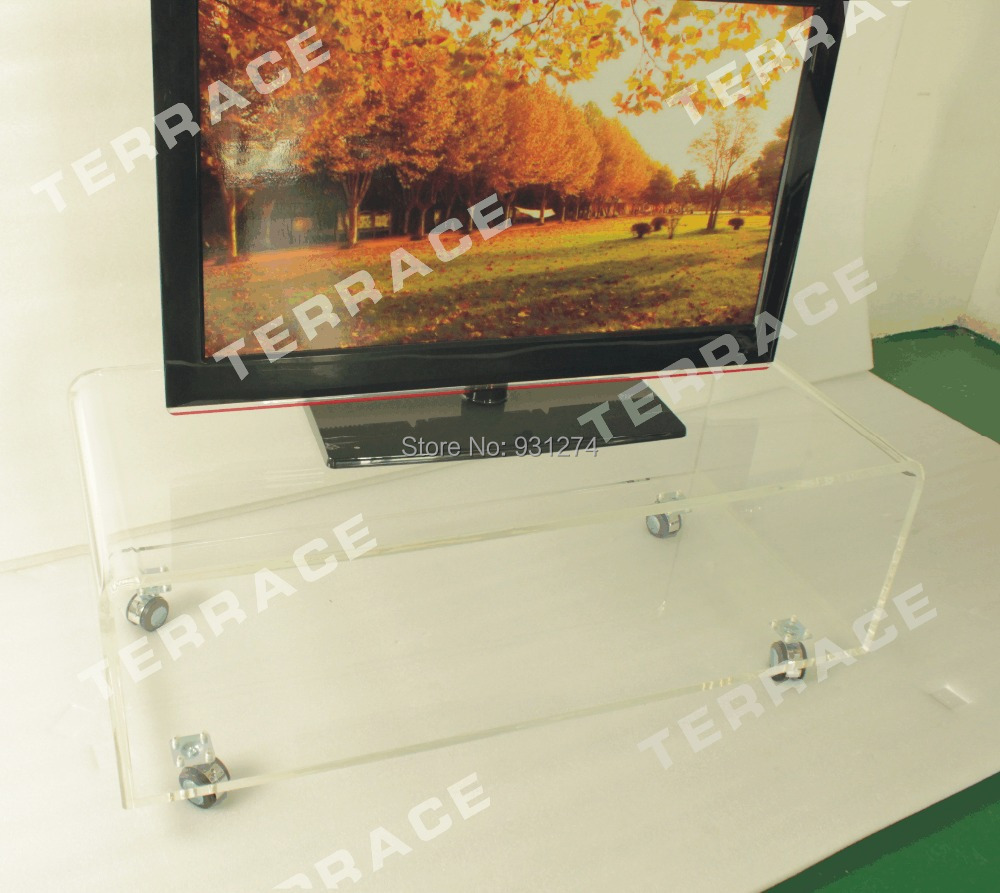 Acrylic TV Stand With Wheels,Lucite Side Tables-in TV