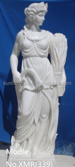 Garden decoration stone carvings and sculptures life size greek woman marble sculpture