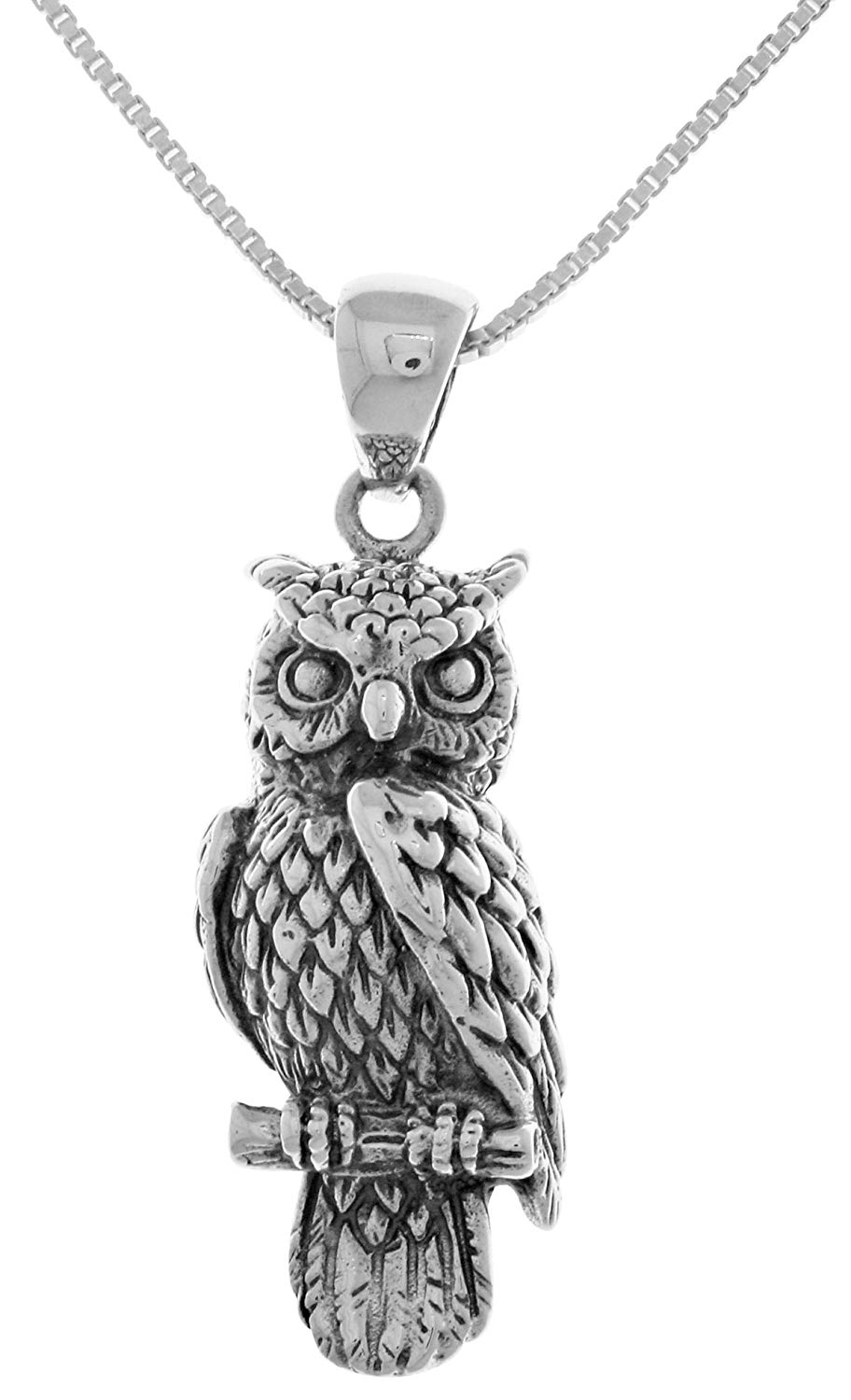 Jewelry Trends Owl Created Opal Sterling Silver Pendant Necklace 18 with CZ