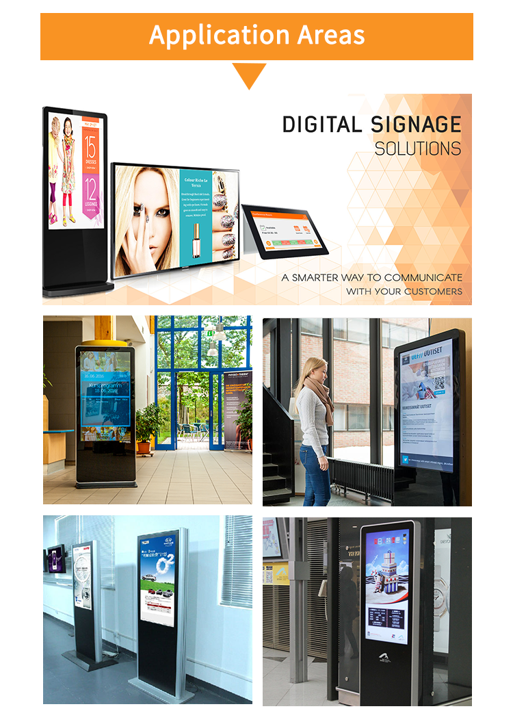 OEM digital signage 32 inch touch screen kiosk totem lcd display