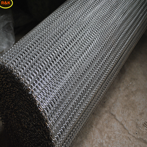 Metal conveyor spiral wire mesh belt