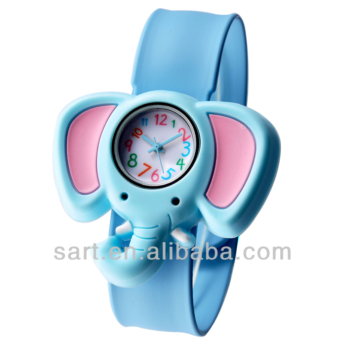 oem character promotional silicone slap strap watch