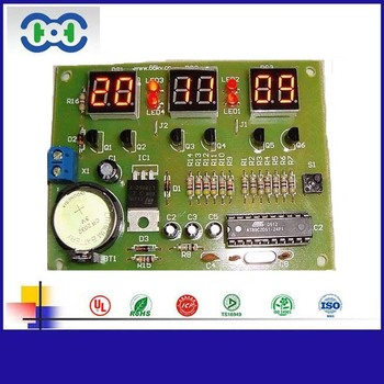 Digital Clock Pcb Board With Ops Enig Hasl Surface Finish And Smt Factory -  Buy Digital Clock Pcb Assembly,Clock Pcb Assembly,Digital Clock Pcb Board