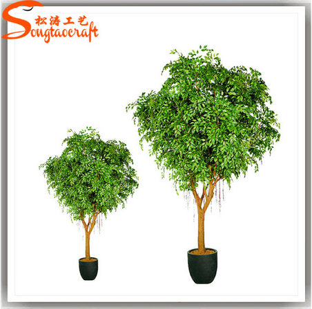 Factory design artificial hanging marijuana plant cheap artificial plants outdoor decoration plant