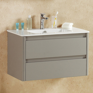 high glossy MDF or plywood cabinet with 2 drawers furniture bathroom