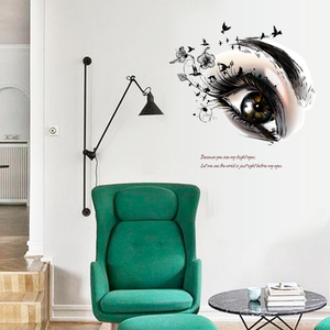 Removable living room 3d eye tattoo sticker