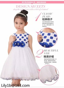 Ecoach Wholesale OEM Baby Glrls Princess Wedding Party Flower Sleeveless Dress Kids Girl Bow Beaded Sweet