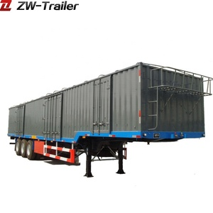 Credible Factory Made Box Semi Trailer With JOST King Pin And Disesel Engine