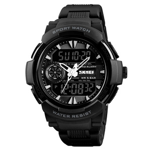50m waterproof plastic waterproof watch man sport wristwatch
