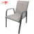 Outdoor Dining Furniture Garden Tempered Glass Table Sling/Textilener Fabric Stacking Chair Set