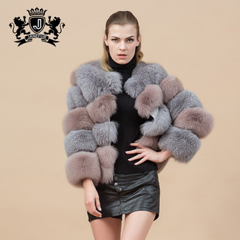 Pink Fox Fur Coat Lovely Girl Full Length Faux Minks Coats With ...