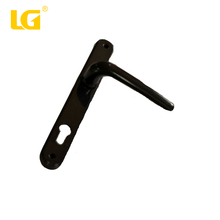 main black fasion re small design door handle and lock on plate