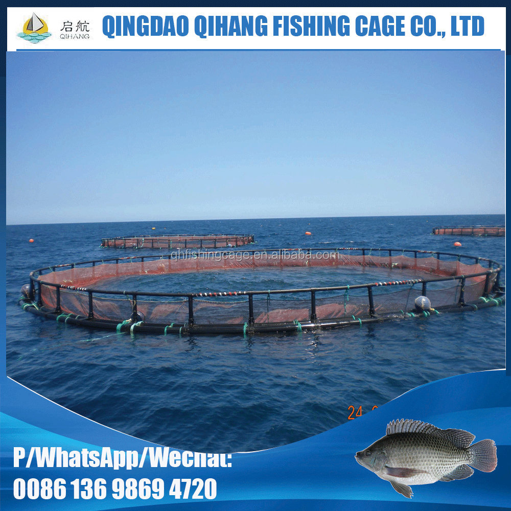 aquaculture pontoon tilapia fish cages for lake river fish farming cage in Africa
