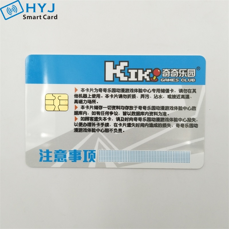 Customized printing  pvc plastic 85.5*54mm contact  smart card