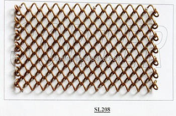 Hot Sell Copper Metal Mesh Curtain For Decor SL208