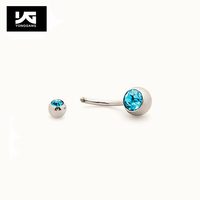 Wholesale body piercing jewelry charming jeweled surgical steel mixed colors navel piercing in China