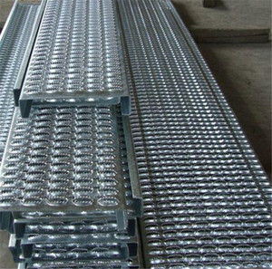 perforated grip strut / deck span safety grating