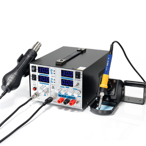 WEP 853D+5A Hot Air Soldering Iron with DC power supply 3 IN 1 BGA rework station