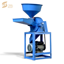 Cereal Powder Grinder / Grain Maize Flour Milling Machinery With Electric Motor