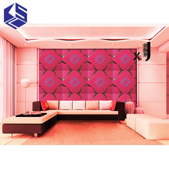 Luxury 3d Wall Panels Imitation Leather Waterproof Wall Paper For ...