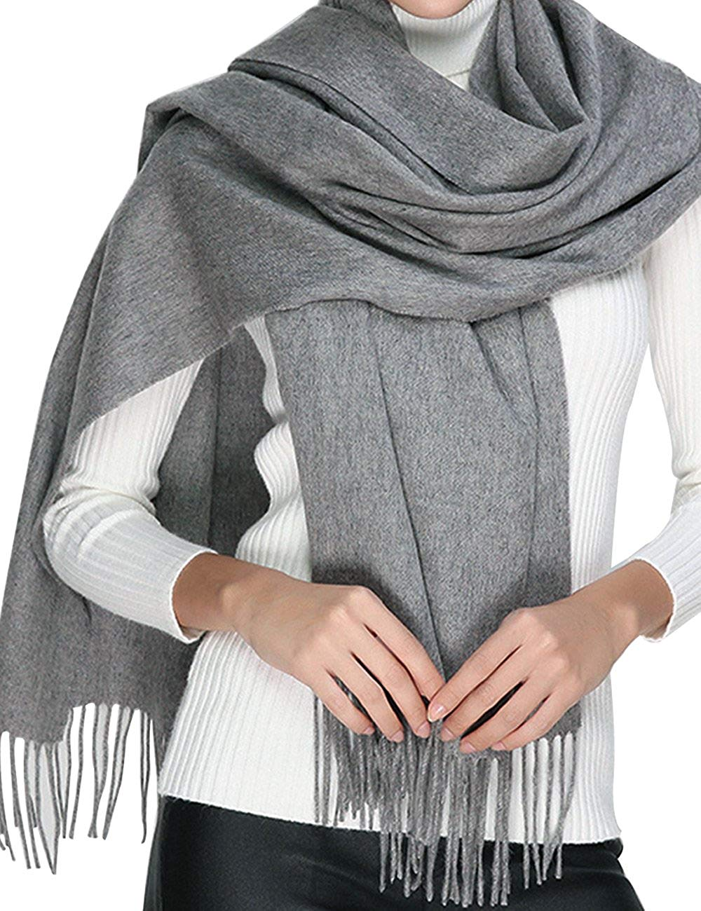 7a58793ca Get Quotations · Cashmere Wool Scarf,Large Soft Women Men Scarves Winter  Warm Shawl Gift