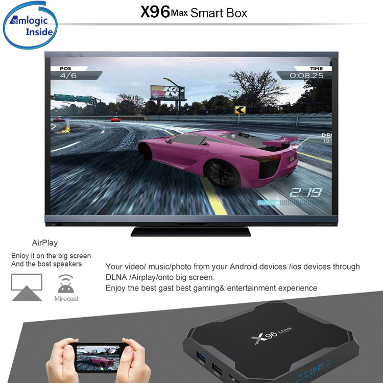 ENYBOX X96 Max Latest Amlogic S905X2 Smart DDR4 HDR Android TV Box Manufacturer
