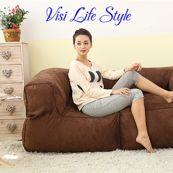 2015 fashion coffee bean bag lazy sofa recliner two people cople bean bag chair cover waiting  sc 1 st  Alibaba & 2015 Fashion Coffee Bean Bag Lazy Sofa Recliner Two People Cople ... islam-shia.org