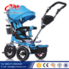 Big rubber wheels baby trike with canopy/new model 4 in 1 360 degree rotating seat baby tricycle cheap/ children baby tricycle