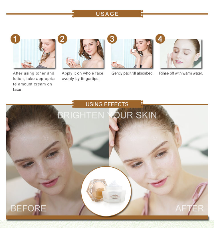 Private Label Skin Care Natural Papaya Tightening Whitening Face Cream for Women