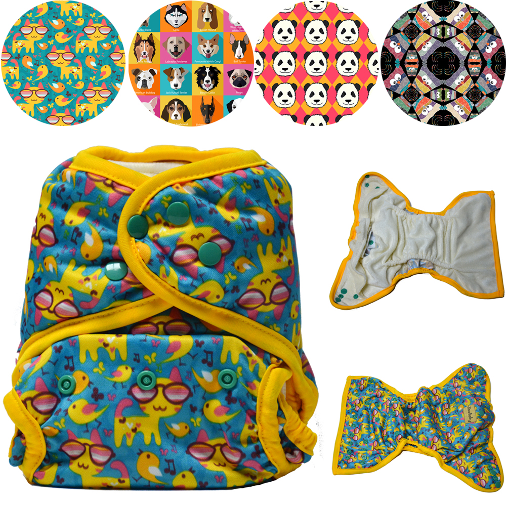 JinoBaby Great Baby Diapers Training Pants Cloth Diaper Nappy Washable Diapers Bamboo Charcoal Inserts for 4KG