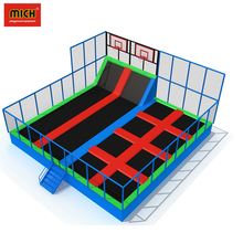 Colorful Different Size CE Certificated Professional Indoor Playground Trampoline With Safety Net