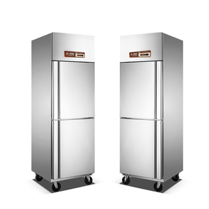 commercial used kitchen refrigerator freezer with 2 doors