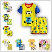 100 Cotton Baby Boys Girls Clothing Set Children Shirt Pants Set Kids Cartoon Clothes Casual girls