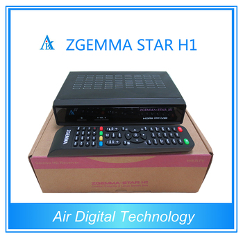 New Black Box Zgemma-star H1enigma2 Twin Tuner Dvb C Mpeg4 Stb Satellite  Receiver With Internet Connection - Buy Zgemma-star H1,Hd Twin Tuner