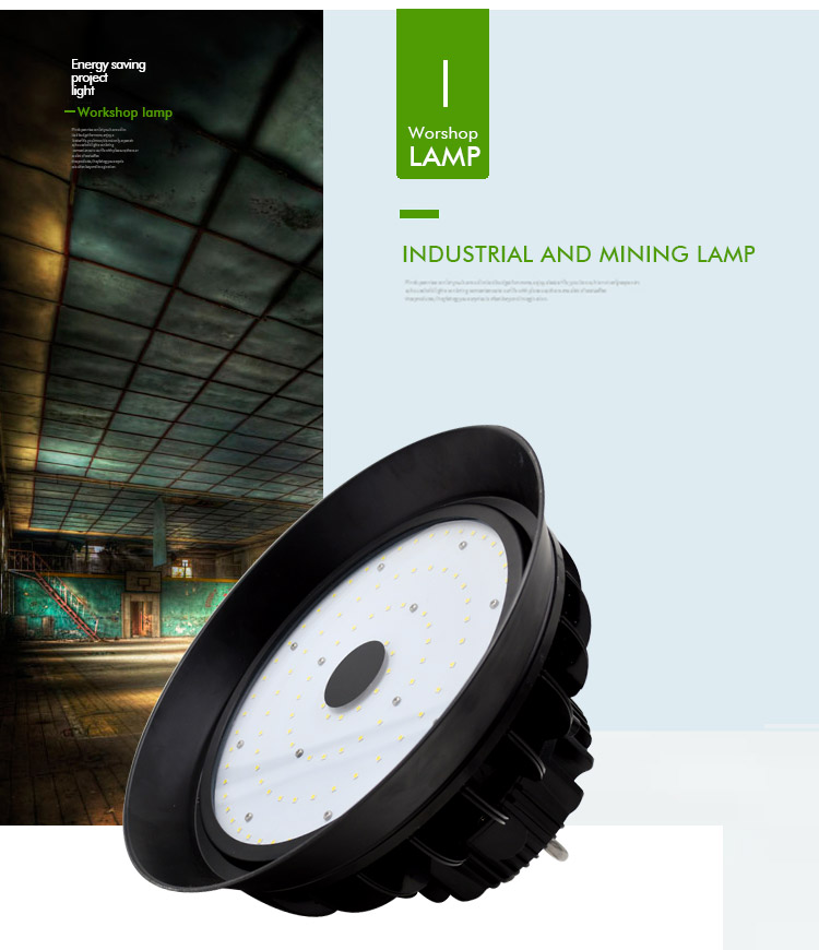 2018 IP65 industrial lighting 100w 150w 200w 250w UFO LED High Bay Light