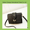 New Stylish black chic elegant Pu leather women small sling bag