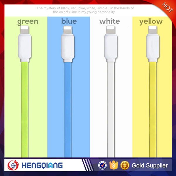 2016 Hot selling Multi-function Colorful mobilephone usb data charging cable for iPhone