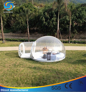 PVC/TPU Bubble Inflatable Yard Tent Transparent Camping Tent