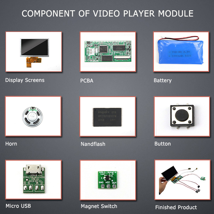 lcd tft video display modul