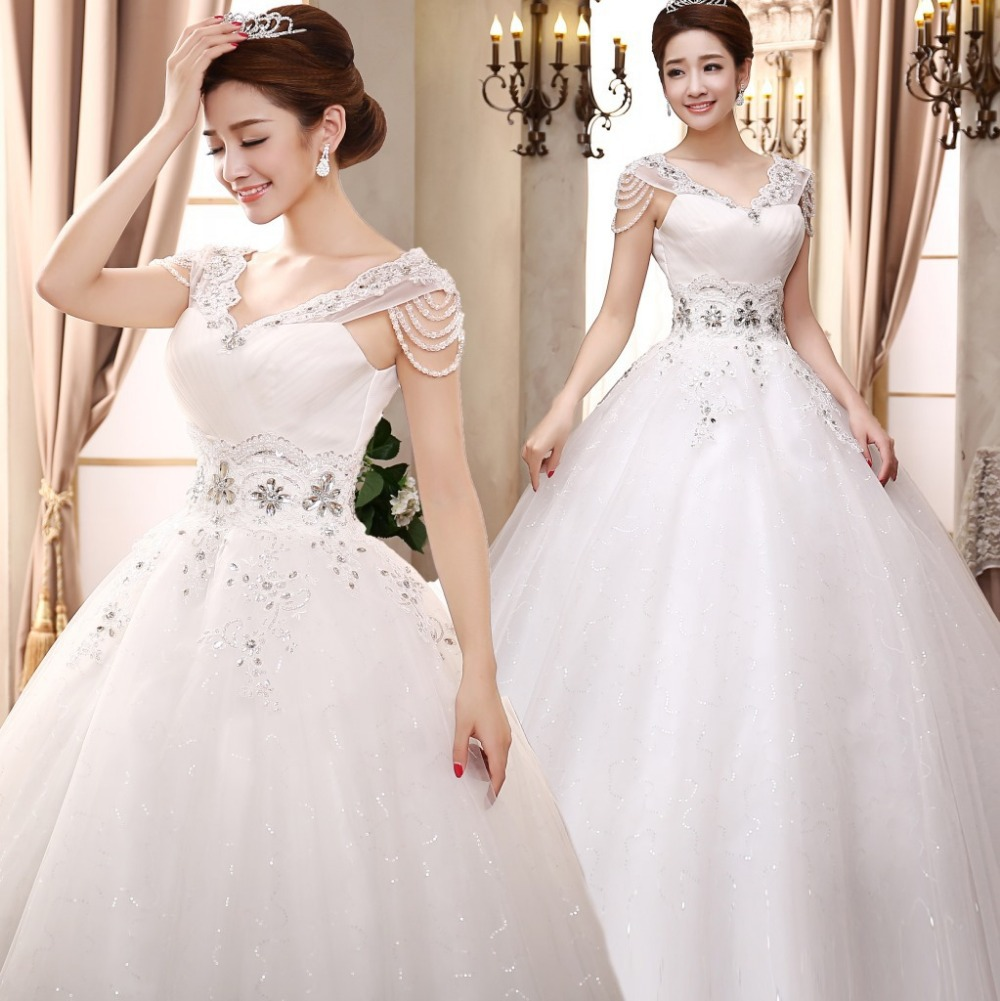 Real Made New Strapless Appliques Ball Gown Wedding