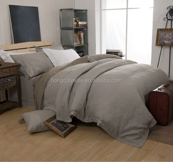 Vintage Washed Flax Linen Bedding Set Bed Sheets Belgian Duvet Cover Stone Product On Alibaba