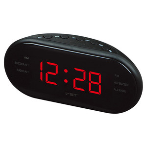 1.2 inch LED display digital desk alarm clock with AM/FM radio