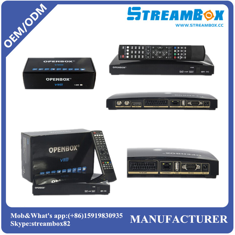 Cheapest in Stock for Free shipping Original S-V8/ Openbox V8 <strong>FTA</strong> Free to Air PVR <strong>HD</strong> DVB-S2 <strong>Satellite</strong> <strong>Receiver</strong>