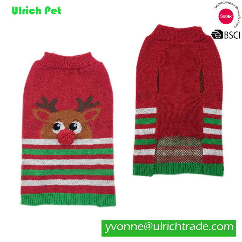 M189 new 2017 fashion knitted dog christmas sweaters
