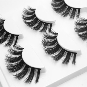 Cheap Price Wholesale Mink Lashes 3 Pairs Synthetic Hair Premium Silk False Eyelash