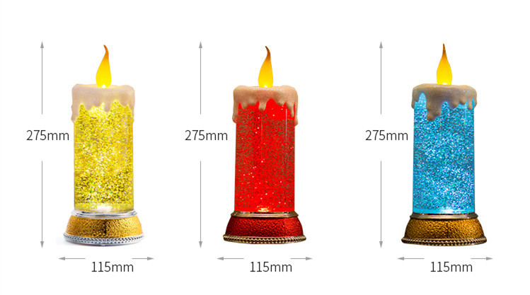 New Release Amazon 2018 Creative  Rotation Table Christmas Light LED Candle Lamp  Christmas Decoration