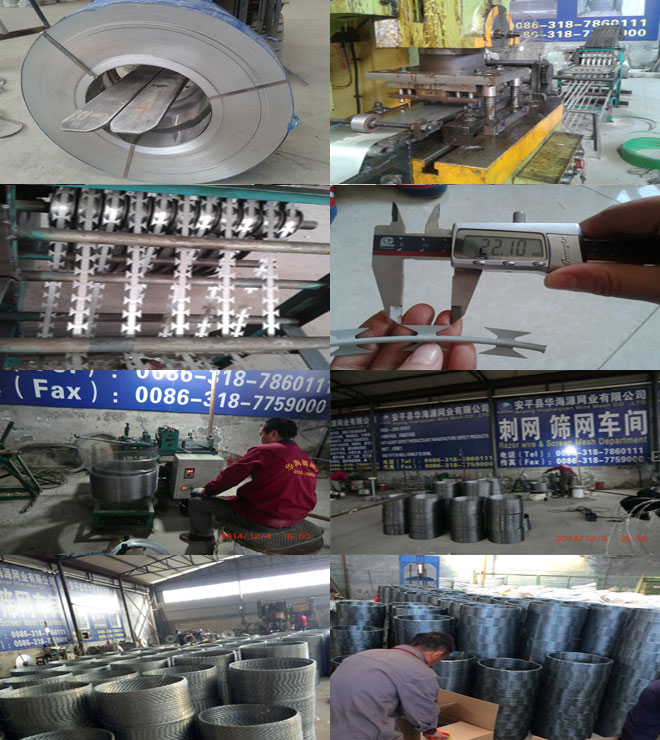 Factory sale galvanized razor barbed wire concertina razor wire